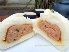 The Informal Chef: Steamed Meat Bun (sang yuk bao) 生肉包 Steamed Bao Buns, Steamed Meat, Indian Food Recipes, Asian Recipes, Ethnic Recipes, Chinese Recipes, Asian Foods, Pao Recipe, Chinese Bun