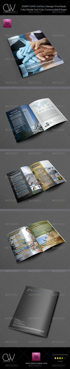 Company Brochure Template Vol.8 - 8 Pages