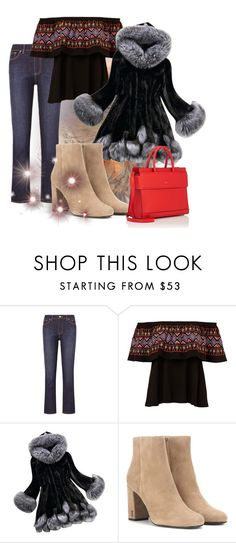 """""""The fluffy coat"""" by theladyintheblackdress ❤ liked on Polyvore featuring Tory Burch, Yves Saint Laurent and Givenchy"""