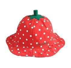 NiSeng Cappello da pescatore Upf 50+ Cappello da bambine e ragazze - Fragola