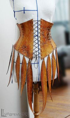 Interesting idea with the leather feather trim