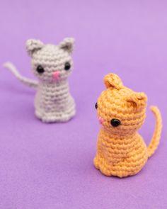 Crochet Keychain Pattern, Crochet Cat Pattern, Crochet Amigurumi Free Patterns, Cute Crochet, Crochet Toys, Knitting Patterns, Knit Crochet, Crochet Case, Blanket Crochet