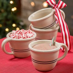 Oversized Pottery Mugs - Set of 4, from Lehmans.com. Hand-thrown in the USA!