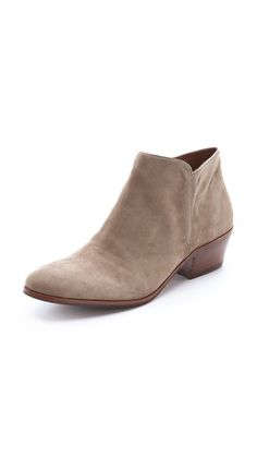 Sam Edelman Petty Suede Booties .. I have these... look cute with skinny jeans rolled up a little on the ankle :) comfortable too !