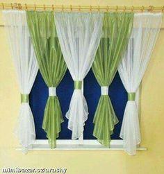 home decor ideas decoration Swag Curtains, Modern Curtains, Colorful Curtains, Valance, Curtain Patterns, Curtain Designs, Diy Home Decor, Room Decor, Curtain Styles