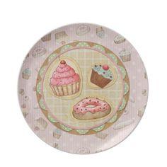 Sweet Treats Cupcake and donuts Plates $27.95