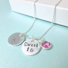 Hey, I found this really awesome Etsy listing at https://www.etsy.com/listing/232010277/sweet-16-necklace-birthday-gift