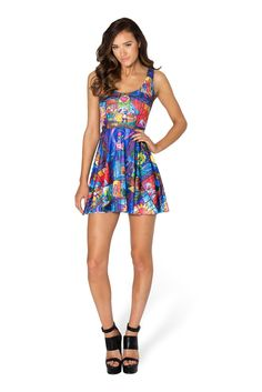 Tale As Old As Time Scoop Skater Dress by Black Milk Clothing $95AUD