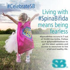 Anyone living with Spina Bifida #CelebrateSB October is Spina Bifida Education Month.