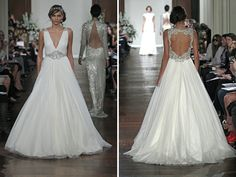 Beautiful back on this gown by Jenny Packham