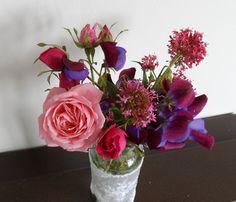 Fragrant Flowers. | Flickr - Photo Sharing!  free style girl on flickr Glass Vase, Rose, Garden, Flowers, Decor, Style, Swag, Pink, Garten