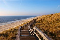 Miles and miles of undeveloped beach near Wenningstedt on the Island of Sylt, in the North Sea (Germany)