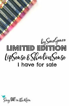 If you are looking for any Limited Edition LipSense Colors - THIS just might be your lucky day!  As a distributor - this is where I share any discontinued colors I may come across or Limited Editions I have on hand.  Get them before they're gone!!  #limit