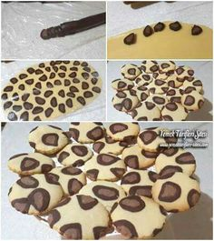 ♡ Easy Cookie Recipes, Sweet Recipes, Cake Recipes, Dessert Recipes, Biscotti Cookies, Cupcake Cookies, Biscuits, Cookies For Kids, Food Decoration