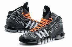 Adidas Basketball Shoes Mens ADIPURE CRAZYQUICK Black -White