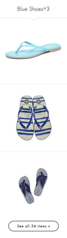 """Blue Shoes#3"" by kikikoji ❤ liked on Polyvore featuring shoes, sandals, flip flops, aqua splash, anchor shoes, anchor flip flops, patterned shoes, aqua flip flops, aqua shoes and blue"