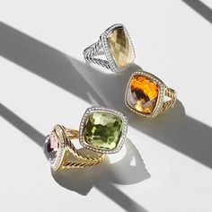 Albion® rings with diamonds.
