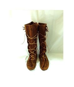 1970s Mountain Man Moccasin Boots