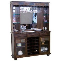 Check out the Sunny Designs 2413DC Santa Fe Server and Back Bar in Dark Chocolate priced at $1,297.50 at Homeclick.com.