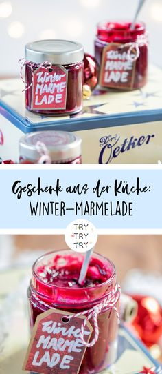 3 gifts from the kitchen: Ugly Christmas sweaters, raspberry chocolate pralines and winter jam Winter Jam / Winter Jam / Kitchen Gift / Food Gift / DIY Gift / Christmas Gift / Jam / Homemade Fruit Jam In modern citi. Diy Gift Christmas, Diy Ugly Christmas Sweater, Xmas, Winter Marmelade, Diy Food Gifts, Fruit Jam, Vegetable Drinks, Healthy Eating Tips, Eat Cake