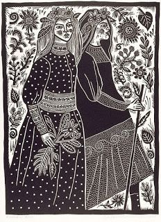 I've recently came across the beautiful prints of Australian artist, Barbara Hanrahan. I love her style and use of lino, but most of a. Linocut Prints, Art Prints, Block Prints, Illustration Art, Illustrations, Stamp Printing, Screen Printing, Linoprint, Tampons