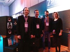 Alain and David from SCV-HiTeCH, France with Roland and Kerstin from EVE. #NAMM2014 Eve, David, France, Winter, Winter Time, Early French, Winter Fashion