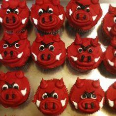 Razorback Cupcakes for graduation party!
