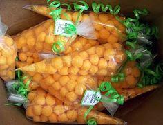 Cheeseball carrot treat bags