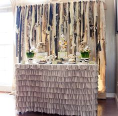 I need a burlap tablecloth like this one.