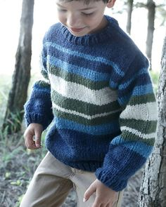 Creative Contents about DIY & Crafts, Knitting, Hairstyles, Beauty and more - Diy Crafts Pull Pull Constant Constant Pull Pull 265290234286873835 Pi. Baby Boy Knitting, Knitting For Kids, Chunky Knitting Patterns, Boys Sweaters, Striped Knit, Handmade Clothes, Baby Patterns, Knit Crochet, Kids Coats