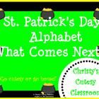 This St. Patrick's Day themed literacy center practices the skill os alphabetical order.Christy's Cutesy Classroom...