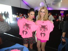 Janel Parrish the infamous 'A' from Pretty Little Liars caught up with us at Wango Tango! She thought our tuxedo cat shirt was so cute!