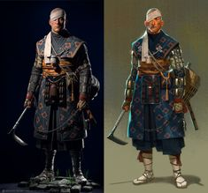 ArtStation - Ilya Gagarin's submission on Feudal Japan: The Shogunate - Game Character Art (real-time) Game Character, Character Costumes, Character Concept, Japanese Oni, Japanese Warrior, Manga Characters, Fantasy Characters, Fantasy Character Design, Character Inspiration