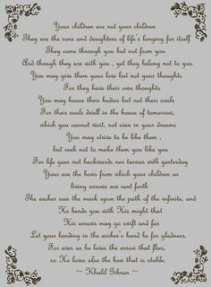 One of my favorite poem by Gibran.♥♥♥