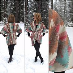 BASK Handmade Clothing and Accessories | BASKbeauties- Handmade Wrap Coat Kimono- Gorgeous Fall or Winter, or those chilly nights of Spring and Summer- Fashion Outfit