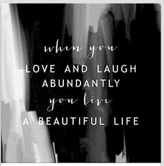 Live a beautiful life