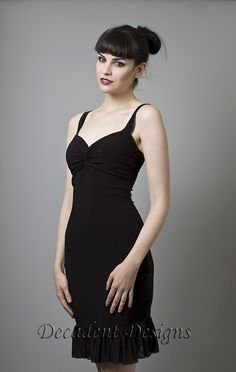 Black Cocktail Dress-Made to measure (Your Size) on Etsy, $95.00