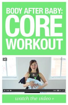 Get your flat belly back with this core workout!