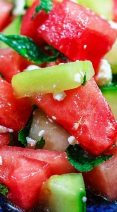 Summer Watermelon Salad with Cucumber
