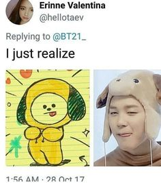 Jimin is adorable oh and same I just realized that