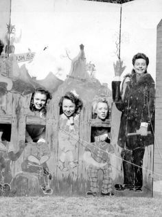 A young Marilyn Monroe (far left)