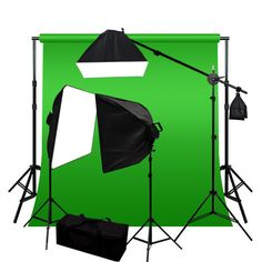 Ls Photo Studio Sale - 10x20 ft Green Chromakey Backdrop Photography Video Lighting Kit NOW ONLY $233.21