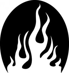 Flames stencil tattoo for your racquet
