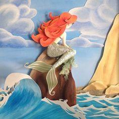 52 trendy book art disney little mermaids Deco Disney, Disney Fan Art, Disney Pixar, Walt Disney, Disney Style, Paper Cutting, Cut Paper, 3d Paper Art, Paper Artwork