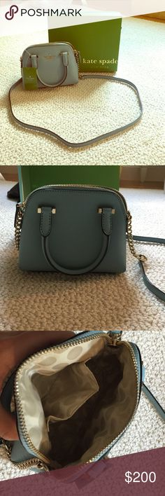Kate Spade Mini Purse Great condition, really cute baby blue color, decently spacious kate spade Bags Mini Bags