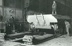 Panther at Henschel factory, about to get traveling tracks...