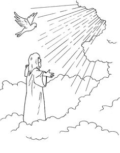 Jesus ascending into heaven (Luke 24, Acts 1)