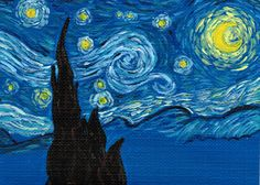 DeviantArt: More Like Van Gogh Starry Night Artist Trading Card ...