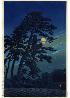 『馬込の月』川瀬巴水