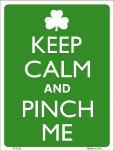 Keep Calm And Pinch Me Metal Novelty Parking Sign